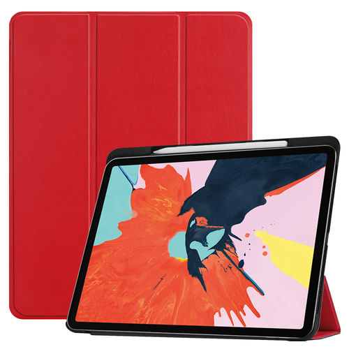 Trifold Smart Case Stand for 2018 Apple iPad Pro (12.9-Inch) - Red